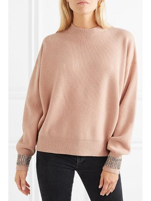 Alexander Wang crystal-embellished wool-blend sweater