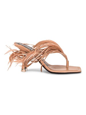 Alexander Wang ivy 85 feather sandal
