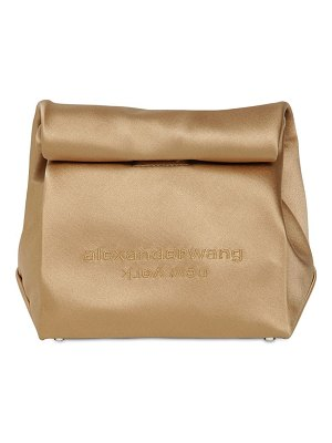 Alexander Wang Lunchbag satin clutch