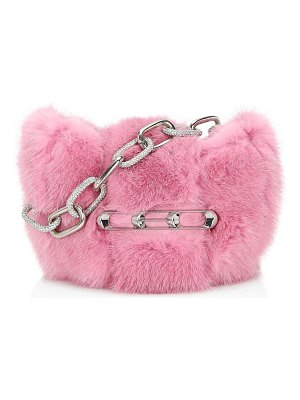 Alexander Wang micro mini mink clutch