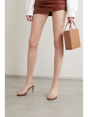 Alexander Wang nova low studded suede and pvc slingback sandals