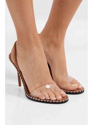 Alexander Wang nova studded leather and pvc slingback sandals