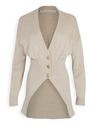 Alexander Wang oversized cardigan with smocked waist