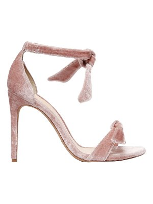 Alexandre Birman 100mm clarita knots velvet sandals
