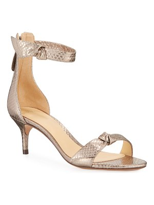 Alexandre Birman 50 MM Clarita Snakeskin Sandals