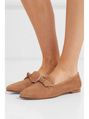 Alexandre Birman becky bow-embellished suede loafers