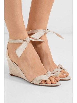 Alexandre Birman clarita bow-embellished canvas espadrille wedge sandals