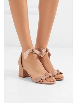 Alexandre Birman clarita bow-embellished suede and satin-twill sandals