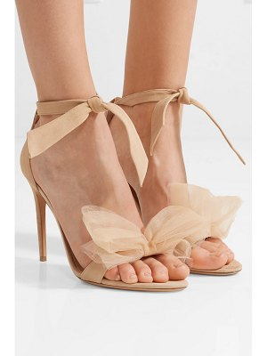 Alexandre Birman clarita bow-embellished suede and tulle sandals