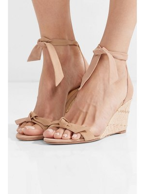 Alexandre Birman clarita bow-embellished suede espadrille wedge sandals
