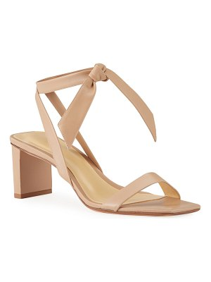 Alexandre Birman Katie Knotted Leather Ankle-Wrap Sandals