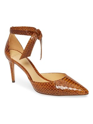 Alexandre Birman new clarita genuine snakeskin ankle strap pump