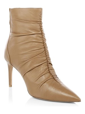 Alexandre Birman susanna ruched leather bootie