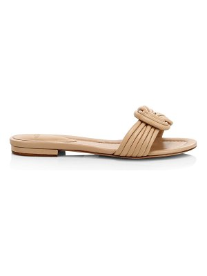 Alexandre Birman vicky leather knot slides