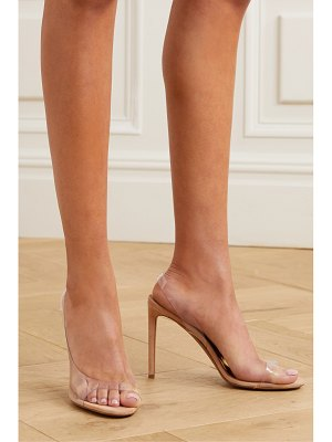 Alexandre Vauthier amber ghost suede and pvc sandals