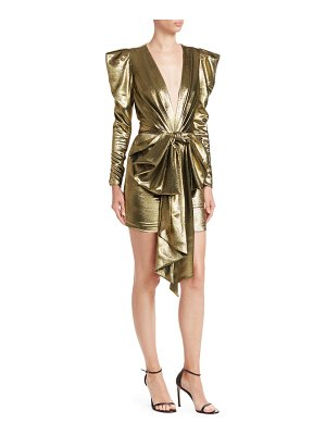 Alexandre Vauthier big bow v-neck mini bodycon dress