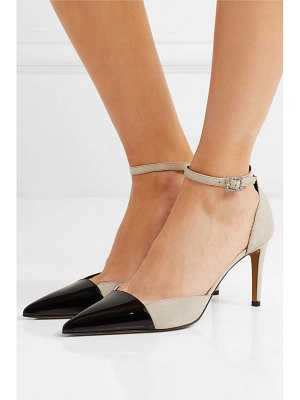 Alexandre Vauthier cindy crystal-embellished patent-leather and suede pumps