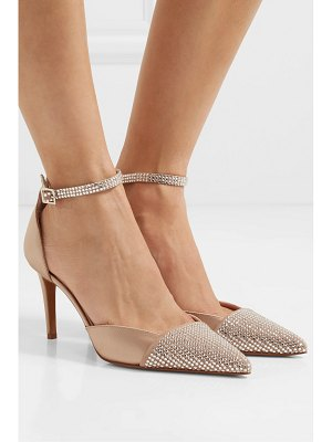 Alexandre Vauthier cindy crystal-embellished suede and satin pumps