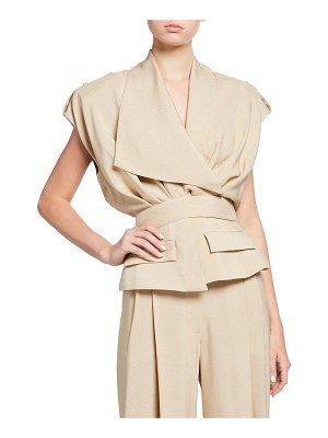 Alexandre Vauthier Cropped Belted Trench Jacket