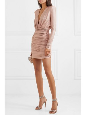 Alexandre Vauthier crystal-embellished ruched stretch-jersey mini dress