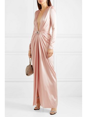 Alexandre Vauthier embellished draped silk-blend satin gown