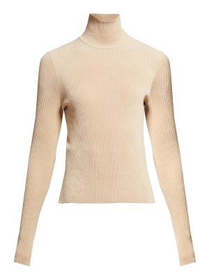 Alexandre Vauthier high neck ribbed chenille sweater