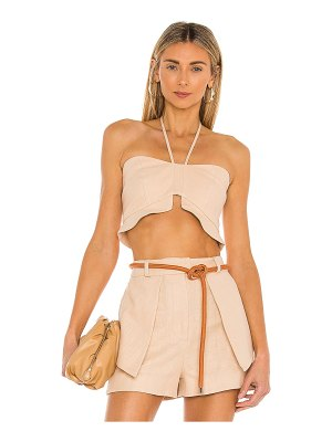 Alexis addy linen twill halter top