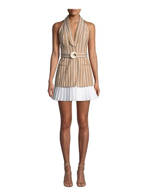 Alexis Carmona Striped Belted Short Dress