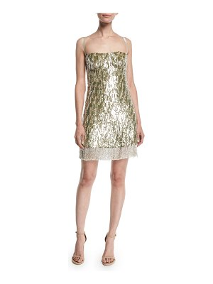 Alexis Izabell Sequined Fringe Cocktail Dress