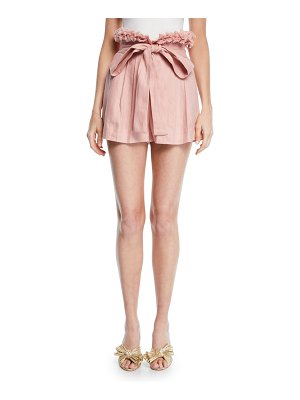 Alexis Jolan Pleated Linen Shorts