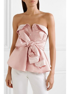 Alexis Mabille bow-detailed satin top