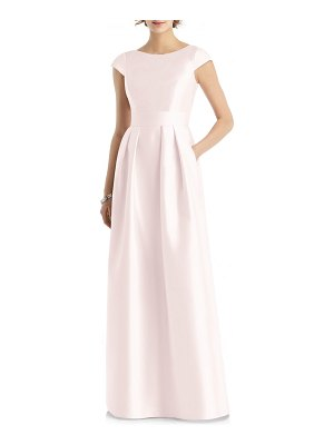 Alfred Sung cap sleeve gown