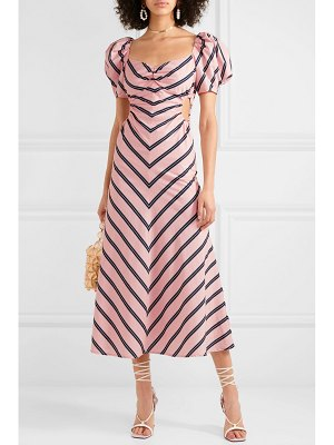 Alice McCall at last cutout striped cotton-poplin midi dress
