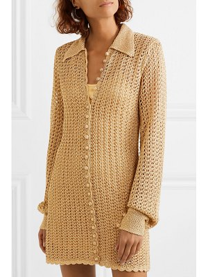 Alice McCall i found you metallic crochet-knit mini dress