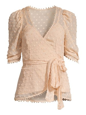 Alice McCall moon talking silk-blend wrap blouse