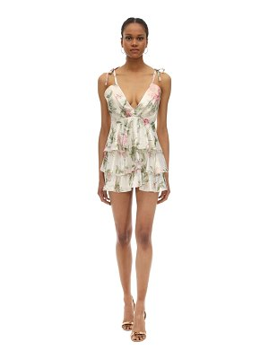 Alice McCall Printed lurex mini dress