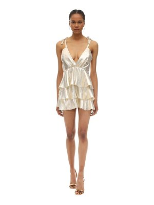 Alice McCall Ruffled lurex mini dress