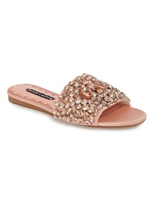 Alice + Olivia abbey crystal embellished slide sandal