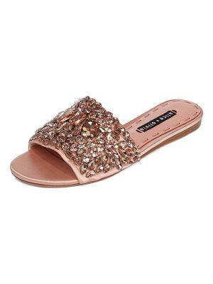 Alice + Olivia Abbey Jeweled Satin Sandal