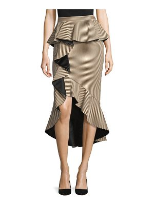 Alice + Olivia alessandra peplum ruffle pencil skirt