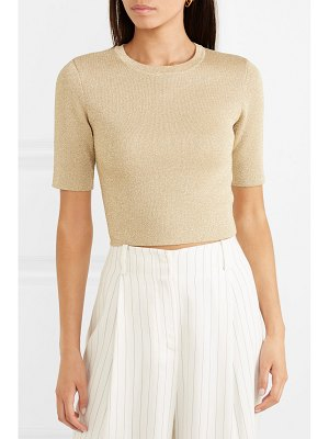 Alice + Olivia alice olivia - ciara metallic wool-blend top