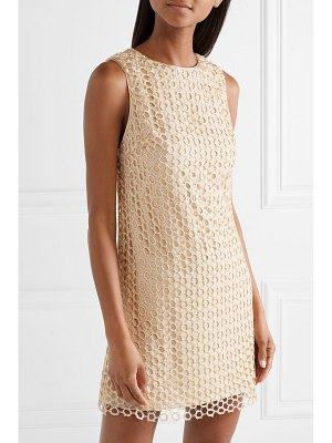 Alice + Olivia alice olivia - clyde sequined crochet-knit mini dress
