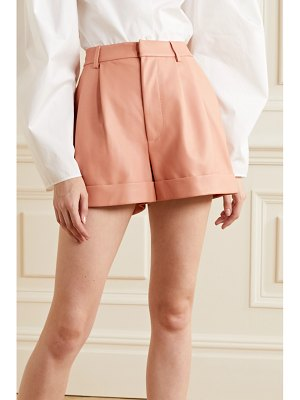 Alice + Olivia alice olivia - conry pleated leather shorts