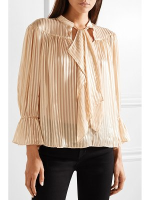 Alice + Olivia alice olivia - danika pussy-bow striped satin and chiffon blouse