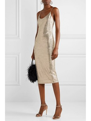 Alice + Olivia alice olivia - delora textured-lamé midi dress
