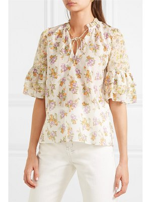 Alice + Olivia alice olivia - julius floral-print cotton and silk-blend voile blouse
