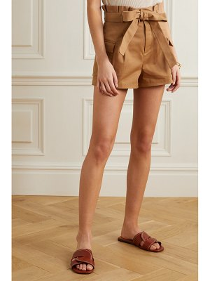 Alice + Olivia alice olivia - laurine belted cotton-blend twill shorts