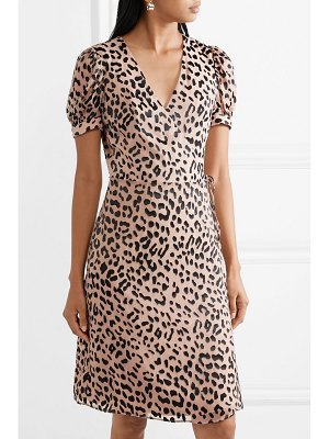 Alice + Olivia alice olivia - rosette fil coupé chiffon wrap dress