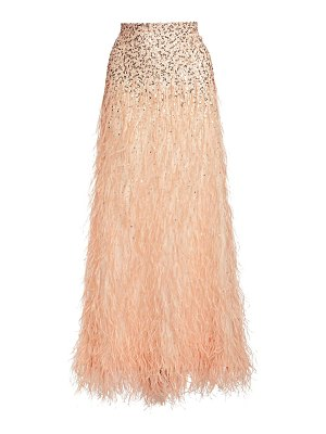 Alice + Olivia ashton sequin & feather skirt
