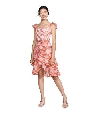 Alice + Olivia azura waterfall ruffle dress